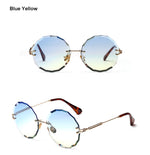 RALFERTY Round Beveled -Edge Sunglasses