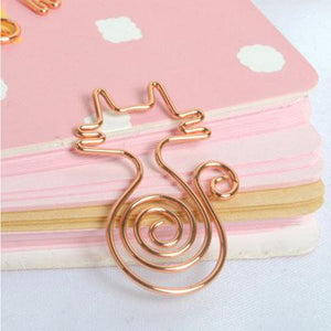 10 Pcs ROSE GOLD BOOKMARKS