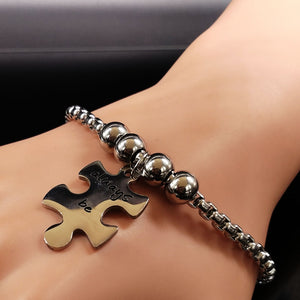 WE WILL ALWAYS BE CONNECTED 3-PC Puzzle Bracelet