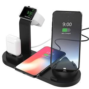 4-in-1 wireless charger support for Apple Android and Type-c