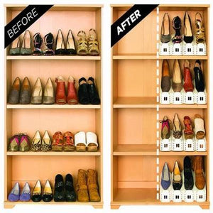 A Space Saving Solution-Double Deck Shoe Rack
