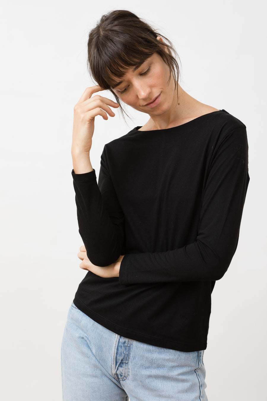 Salma Longsleeve Top Black