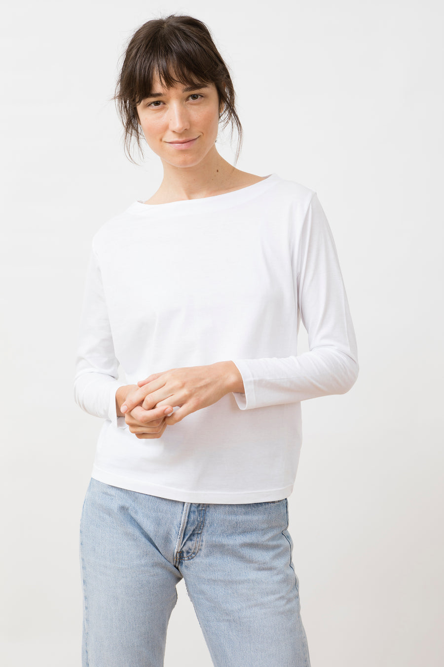 Salma Longsleeve Top White