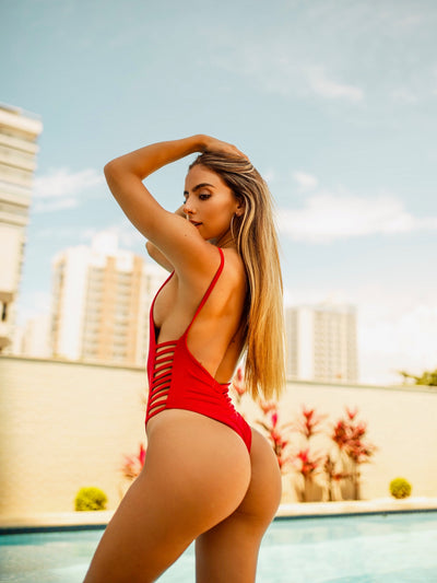 Heartbreaker Side Slits One-Piece Scrunch & Normal