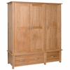New Oak Triple Wardrobe