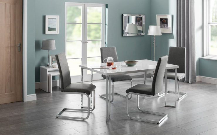 Roma Fabric Cantilever Dining Chair