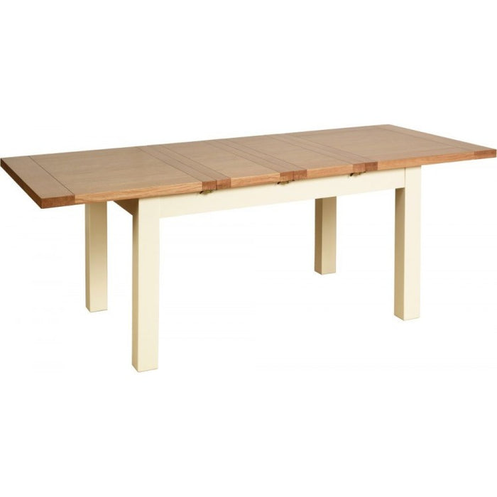 Lundy Pine Painted Standard Dining Table with 2 Extensions