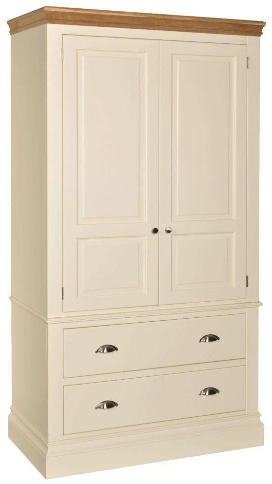 Lundy Painted 2 Door 2 Drawer Wardrobe
