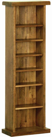 Rustic Oak CD/DVD Rack