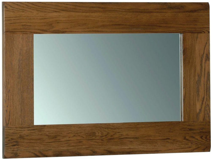 Rustic Oak Wall Mirror 90cm x 60cm