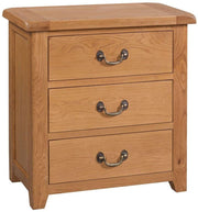 Somerset Oak 3 Drawer Chest of Drawers