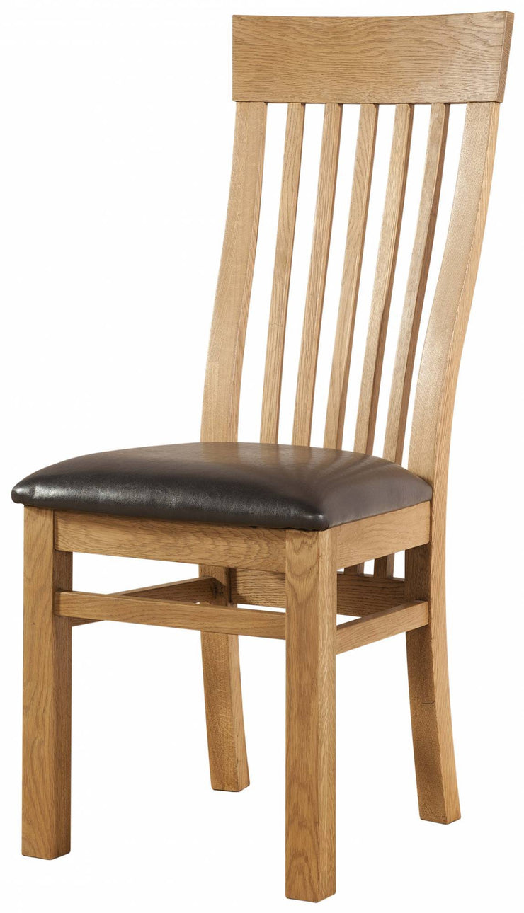 Avon Oak Curved Back Chair