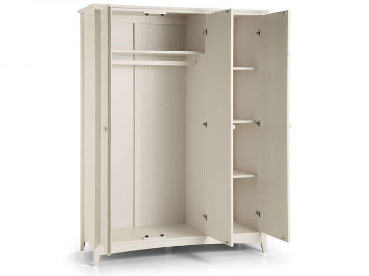 Cameo 3 Door Wardrobe - Stone White