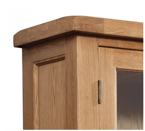 Somerset Oak Display Cabinet