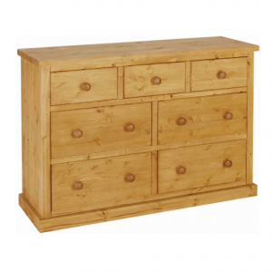 Chunky Pine Chest of Drawers 3 Over 4