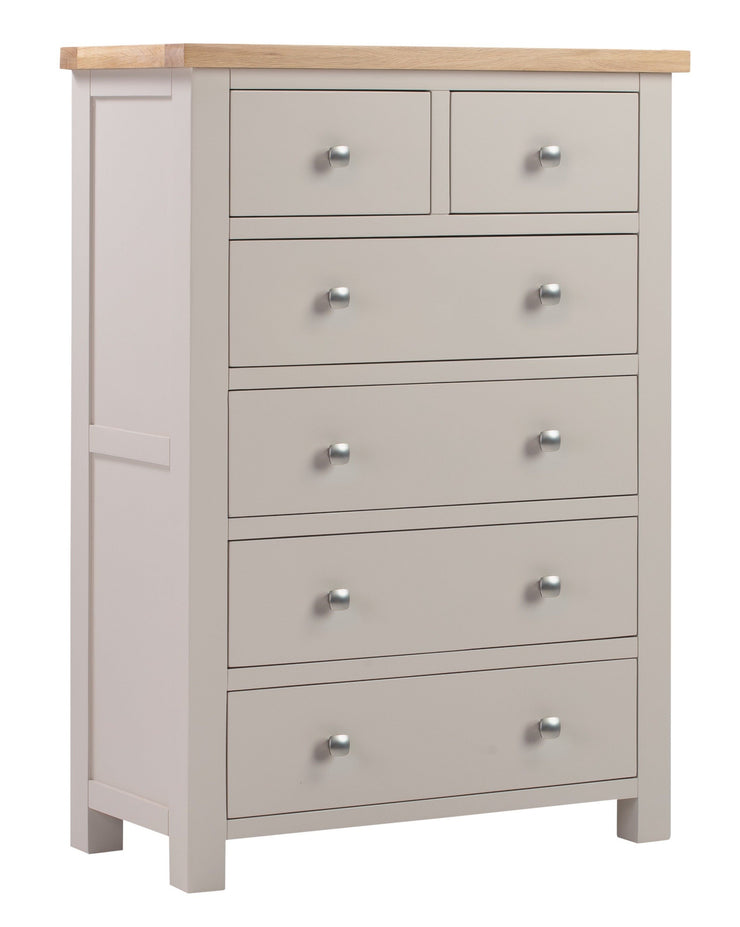 Dorset Putty Painted 2 Over 4 Chest Of Drawers