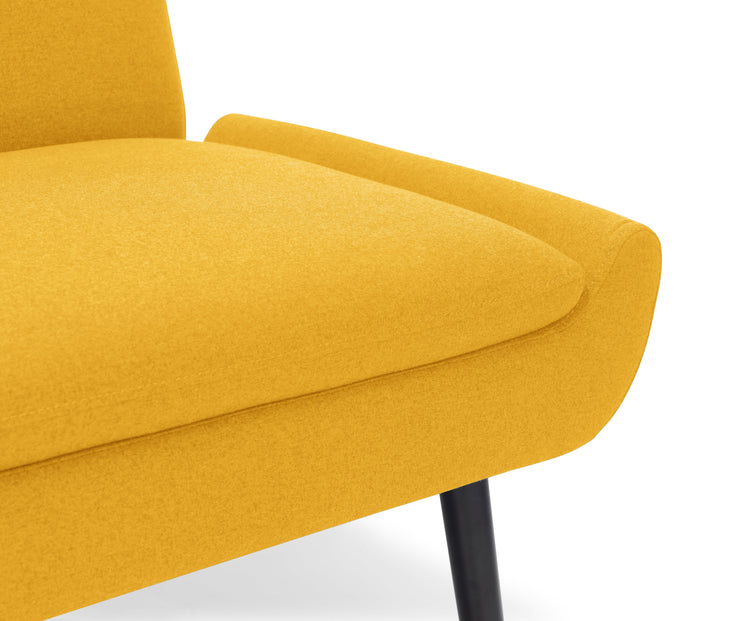 Gaudi Curled Base Sofabed - Mustard