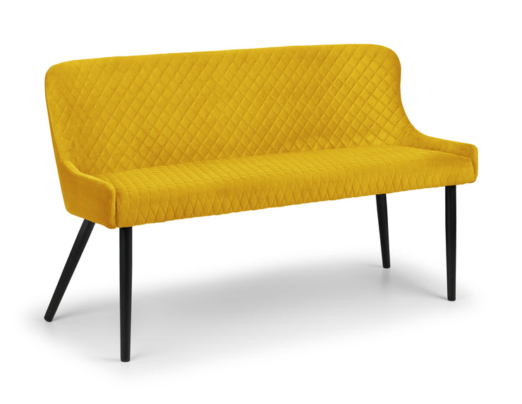 Luxe High Back Bench - Mustard