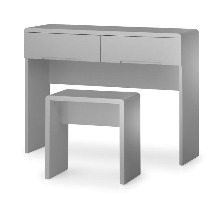 Manhattan Dressing Table with 2 Drawers - Grey