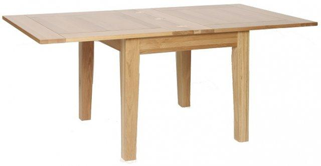 New Oak Flip Top Extending Table 0.9m - 1.8m