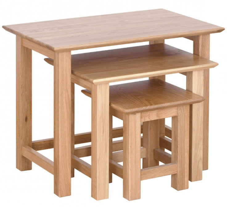 New Oak Nest Of Tables