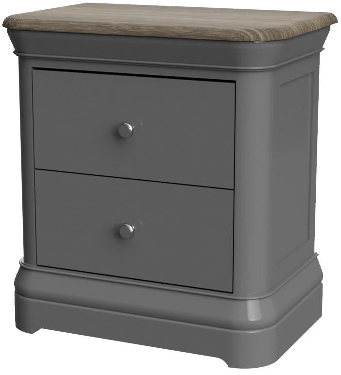 Pebble 2 Drawer Bedside Table