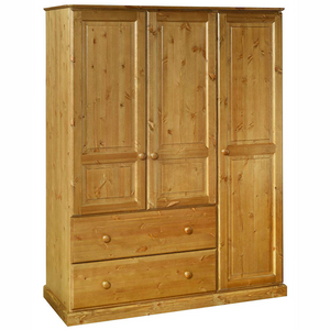 Torridge Pine Triple Wardrobe with Drawers