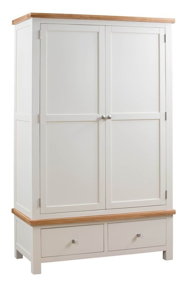 Dorset Painted Oak Double Robe with 2 Drawers