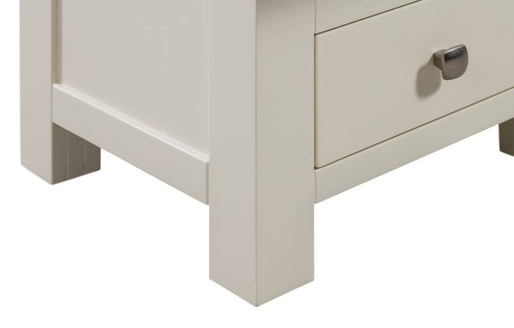 Dorset Painted Oak Narrow Bedside Table with 3 Drawers