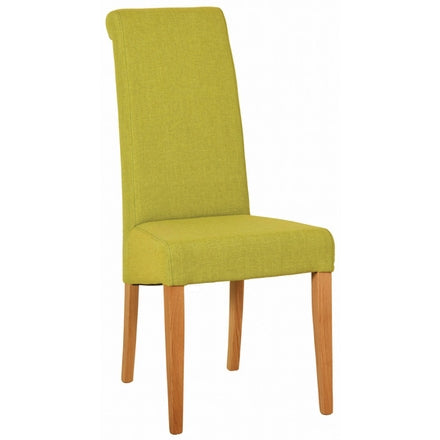 Lime Fabric Dining Chair