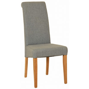 Light Grey Fabric Dining Chair