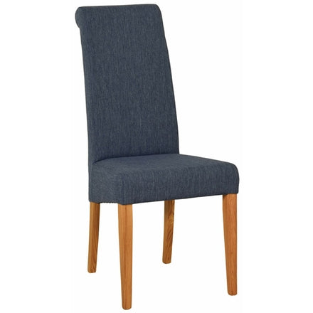 Blue Fabric Dining Chair