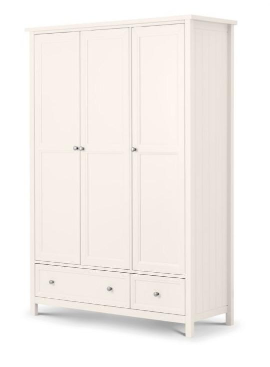 Maine 3 Door Combination Wardrobe - Surf White