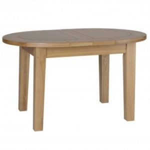 New Oak Small Double End Extending Table 1.3m - 1.65m