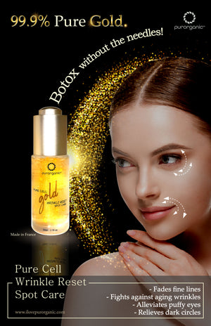 Gold infused wrinkle care spot care