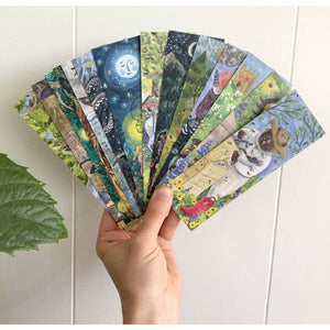 Forest Campfire Bookmark