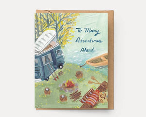Adventures Ahead Card - Ingrid Press