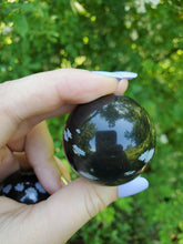 Load image into Gallery viewer, Snowflake Obsidian Sphere