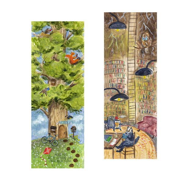 Library Tree Bookmark