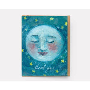Moon Thank You Card