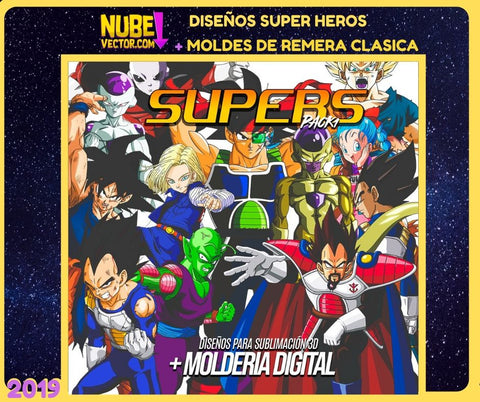 PACK 1: 12 VECTORES SUPER HEROES MÁS MOLDERIA DIGITAL