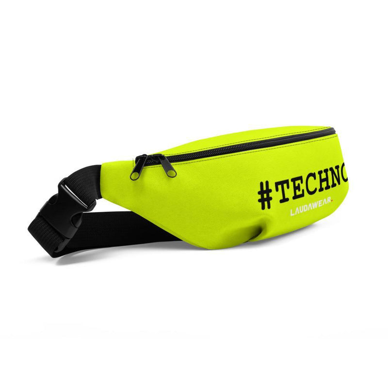The #TECHNO Fanny Pack Neon Yellow - LAUDAWEAR