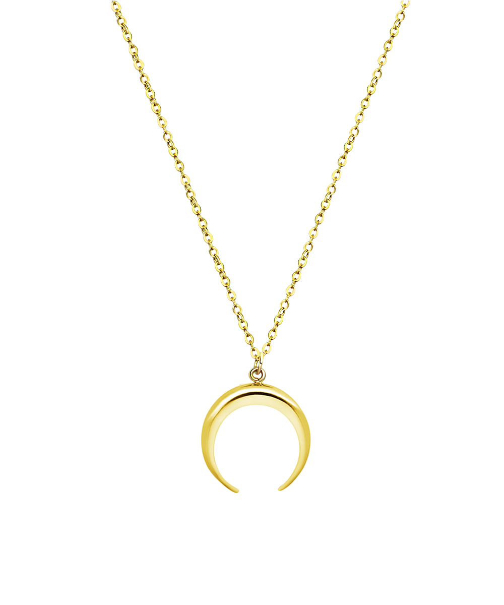Moon Necklace Gold