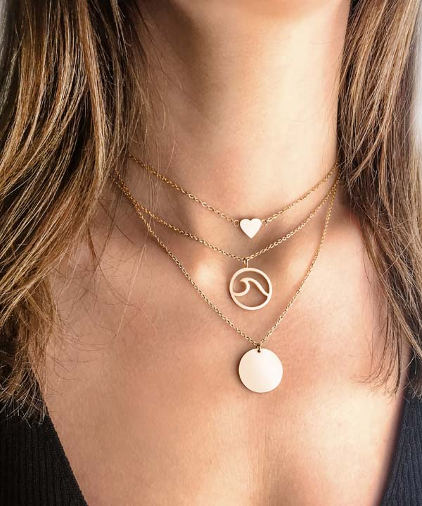 Coin Necklace Layering