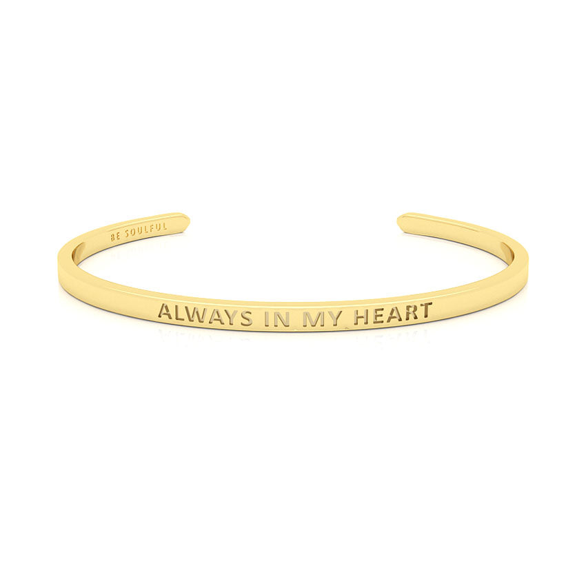 Always In My Heart Armband mit Gravur [Blind] Gold
