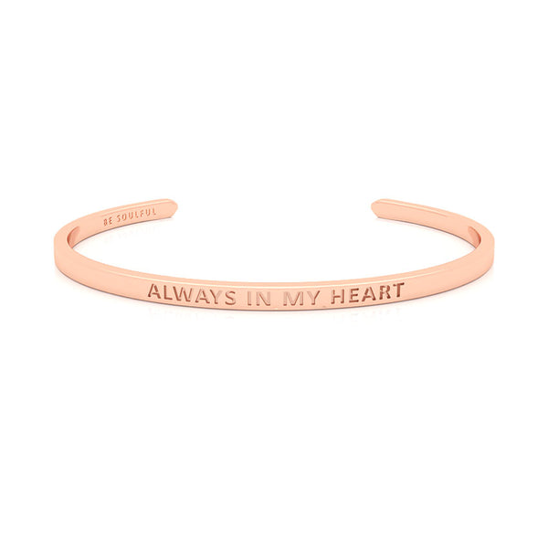 Always In My Heart Armband mit Gravur [Blind] Rosegold