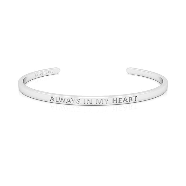 Always In My Heart Armband mit Gravur [Blind] Silber