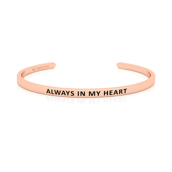 Always In My Heart Armband mit Gravur Rosegold