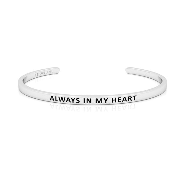 Always In My Heart Armband mit Gravur Silber