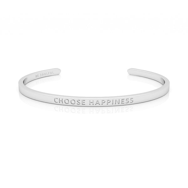 Choose Happiness Armband mit Gravur [Blind] Silber